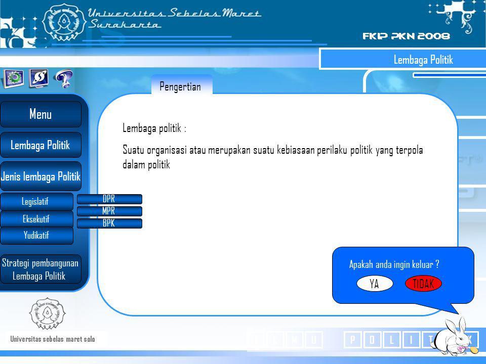 "Badan legislatif Di Indonesia Hak-hak Fungsi Legislatif Lembaga yang ""legislate "" atau badan yang membuat undang –undang yang anggotanya dianggap mewa"