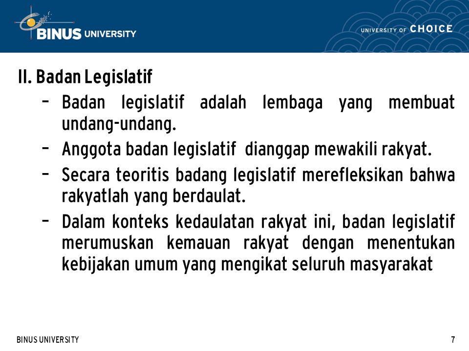 BINUS UNIVERSITY7 II.