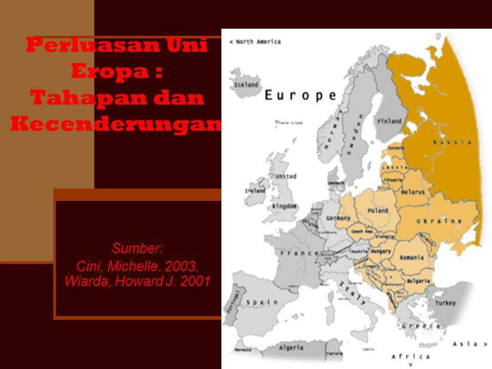 Perluasan Uni Eropa : Tahapan dan Kecenderungan Sumber: Cini, Michelle. 2003. Wiarda, Howard J. 2001