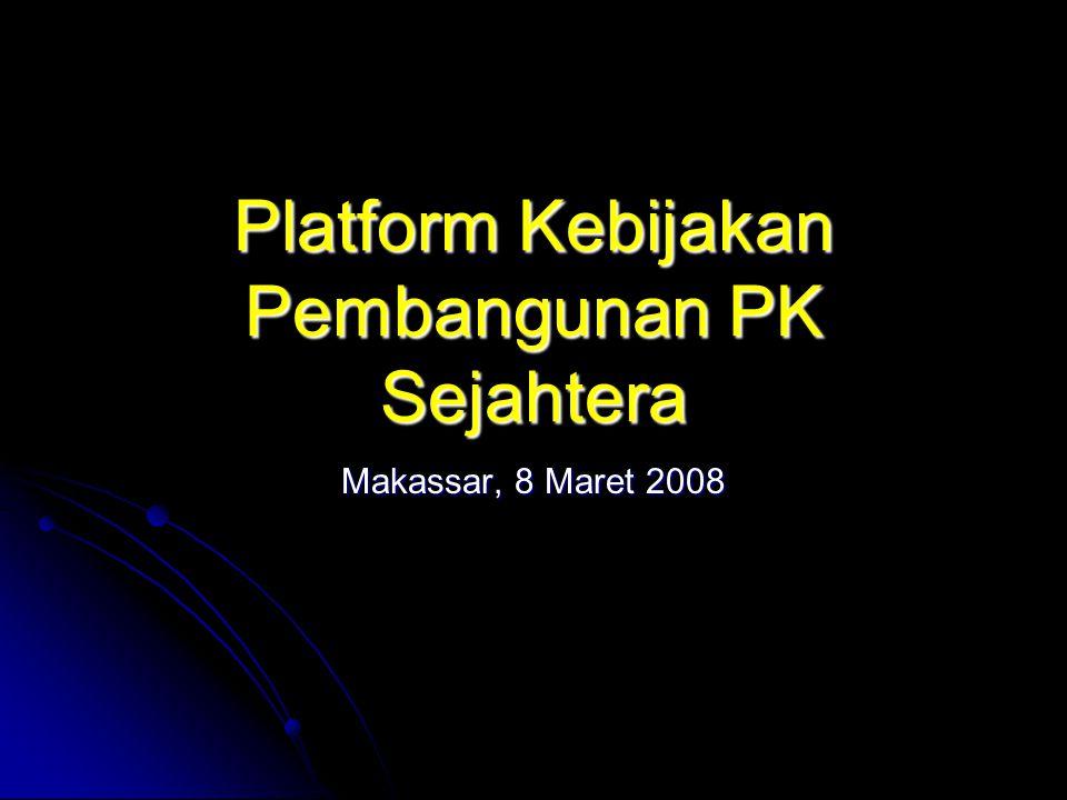 Politik-7: Penegakan Hukum PK Sejahtera berkeyakinan, bahwa strategi penegakan hukum harus diawali dengan membersihkan aparat penegaknya dari perilaku bermasalah dan koruptif, sesuai dengan pepatah, hanya sapu bersih yang dapat membersihkan lantai kotor .