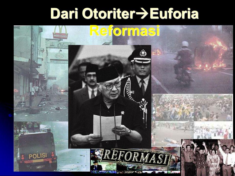 PLATFORM: POLITIK Tatanan kekuasaan yang demokratis, berjalan dalam koridor hukum dan agama, dan rakyat memperoleh hak-hak politiknya secara penuh. Po
