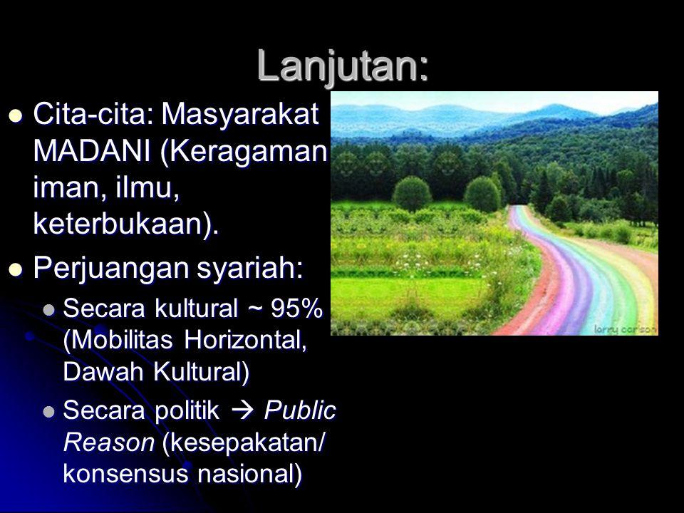Solusi: Hubungan Negara-Agama: Pemikiran yang ingin menjadikan Indonesia sebagai Negara Bangsa yang bebas agama, Negara Sekuler, adalah pemikiran yang