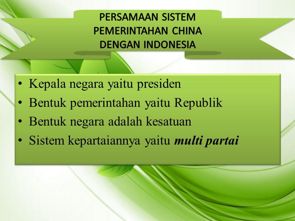 Kepala negara yaitu presiden Bentuk pemerintahan yaitu Republik Bentuk negara adalah kesatuan Sistem kepartaiannya yaitu multi partai Kepala negara ya