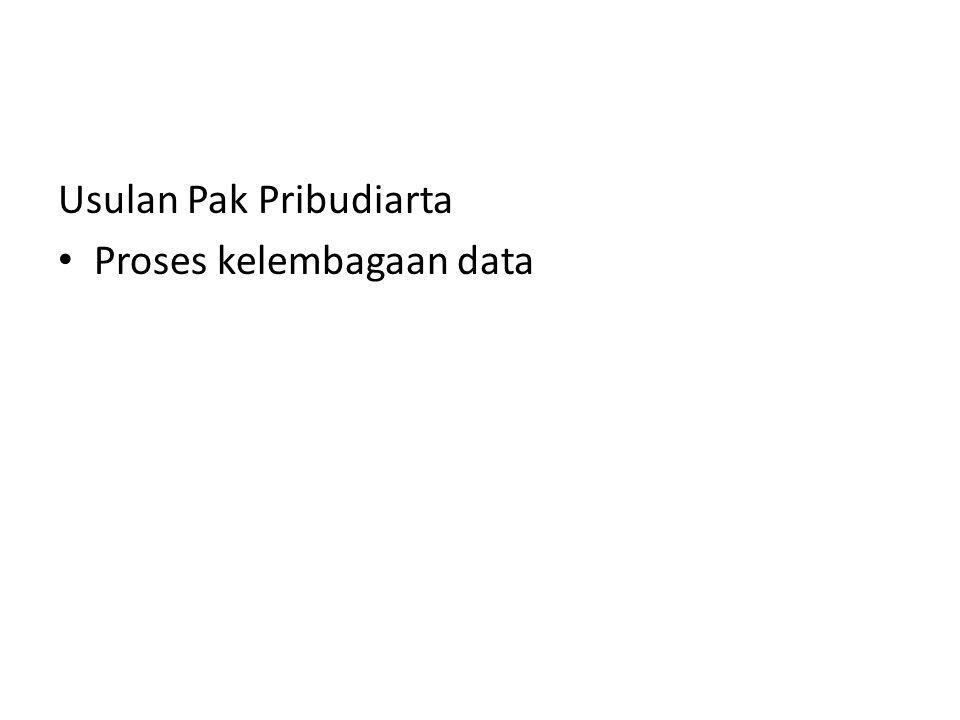 Usulan Pak Pribudiarta Proses kelembagaan data