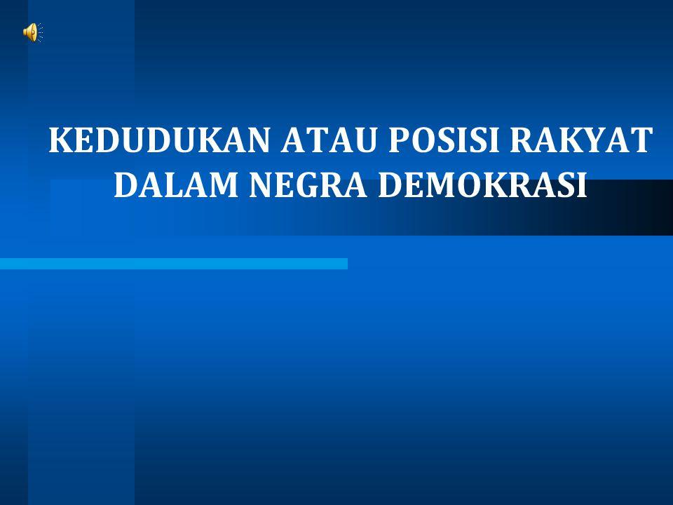 1A.PENGERTIAN RAKYAT Rakyat adalah orang yang tunduk dan patuh pada suatu pemerintahan negara.