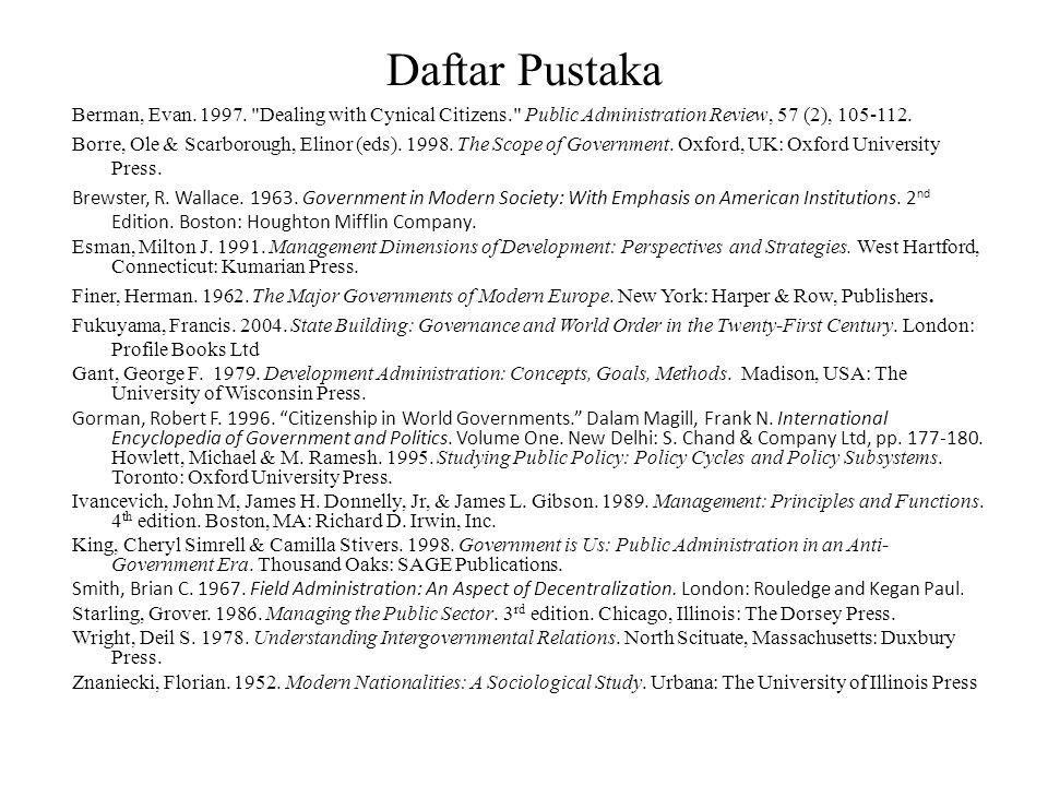 Daftar Pustaka Berman, Evan. 1997.