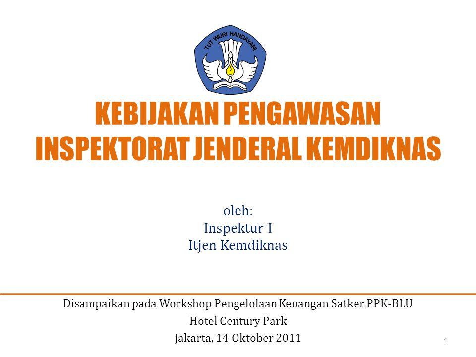 VISI DAN MISI KEMDIKNAS 2010 - 2014 VISI KEMDIKNAS 2010 - 2014 Terselanggaranya Layanan Prima Pendidikan Nasional untuk Membentuk Insan Indonesia Cerdas Komprehensif MISI KEMDIKNAS 2010 - 2014 Meningkatkan Ketersediaan Layanan Pendidikan (Availability) Memperluas Keterjangkauan Layanan Pendidikan (Affordability) Meningkatkan Kualitas/Mutu dan Relevansi Layanan Pendidikan (Quality) Mewujudkan Kesetaraan dalam Memperoleh Layanan Pendidikan (Equity) Menjamin Kepastian Memperoleh Layanan Pendidikan (Assurance) 2