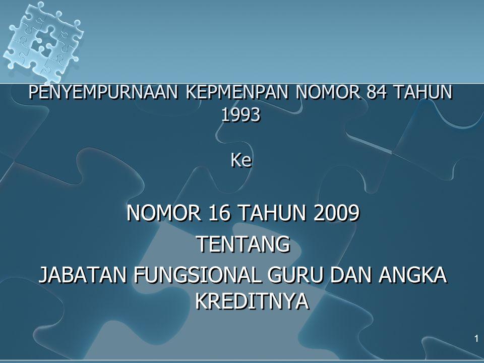 BAB VI JENJANG JABATAN DAN PANGKAT Pasal 12 (1) Jenjang jabatan Fungsional Guru dari yang terendah sampai dengan yang tertinggi, yaitu: sampai dengan yang tertinggi, yaitu: a.
