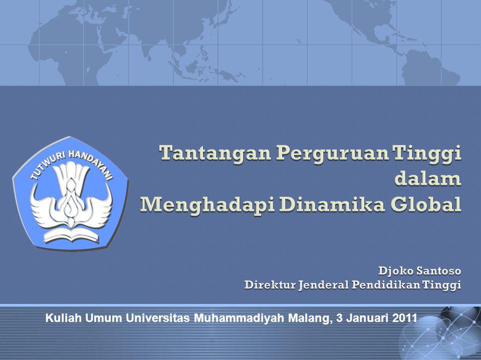 Pengenalan Studi Mahasiswa Baru Universitas Muhammadiyah Malang, 1 September 2010 Kuliah Umum Universitas Muhammadiyah Malang, 3 Januari 2011