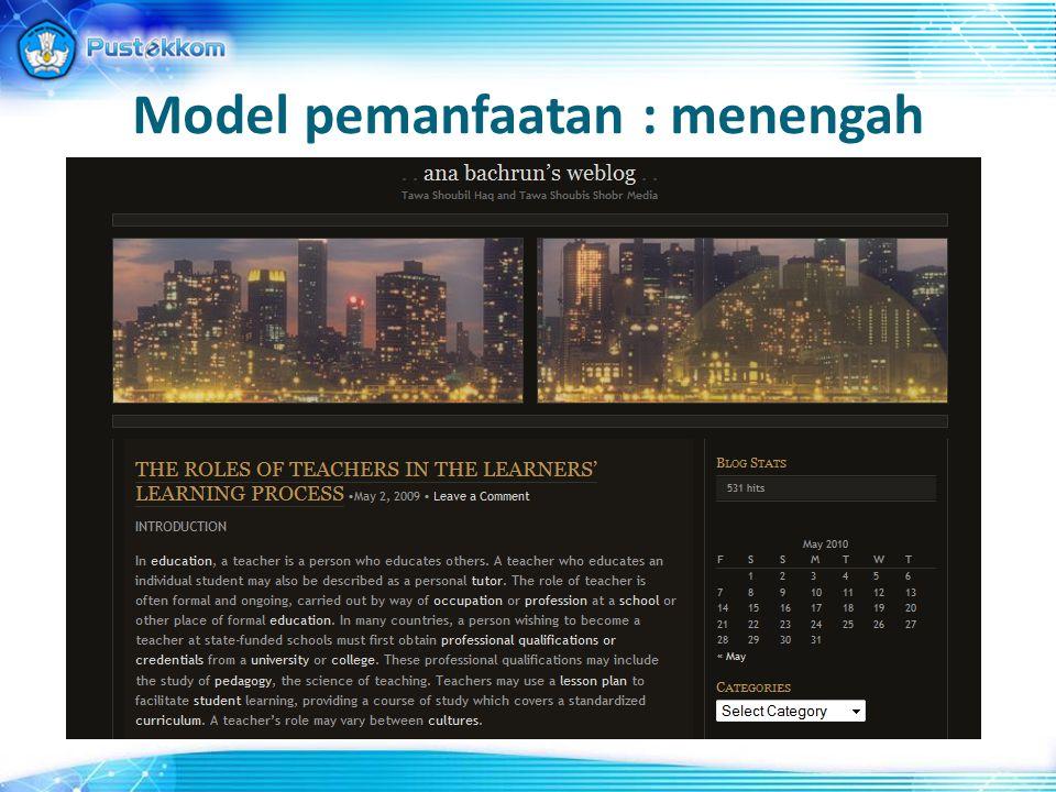 Model pemanfaatan : menengah