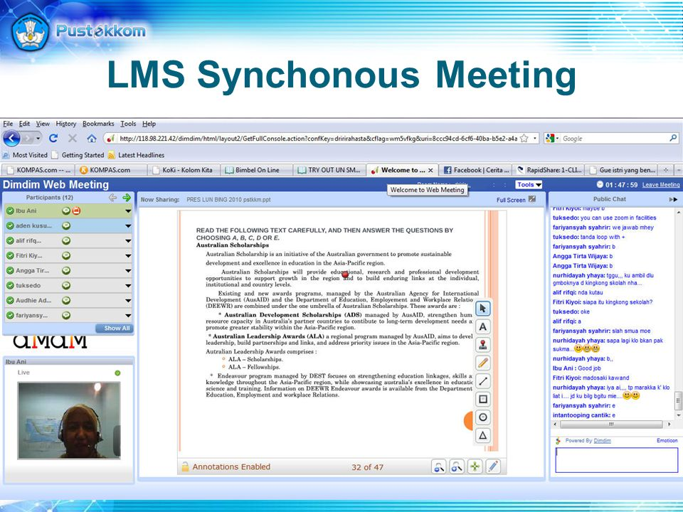 LMS Synchonous Meeting
