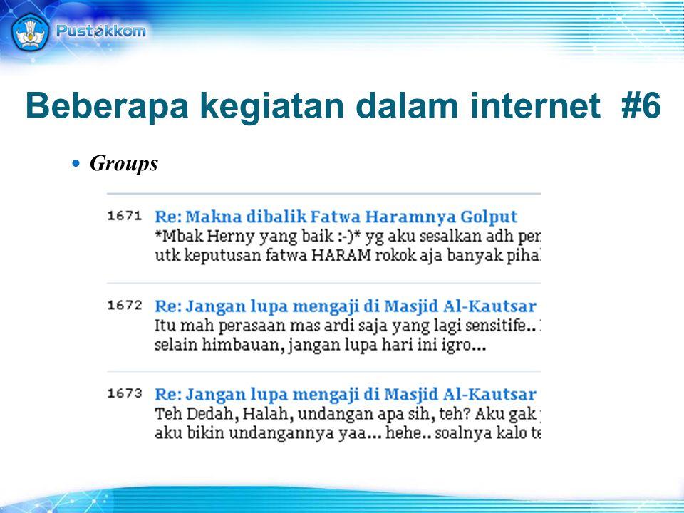 Tips 7: Mencari Definisi - define:internet define:internet mencari halaman yang memuat definisi dari kata 'internet' tanda (:) harus menempel dengan kata define