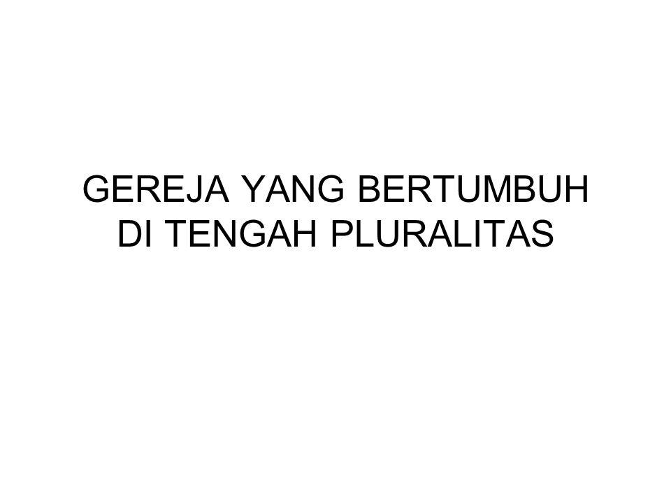 LATAR BELAKANG - Gereja di Indonesia hidup di tengah-tengah masyarakat yang majemuk.