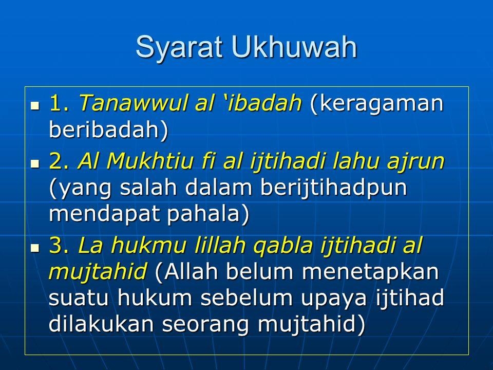 BACK SYARAT MUTLAK RUKUN ADALAH TA'AWUN (TOLONG MENOLONG PERSAUDARAAN/ UKHUWAH 1.Ukhuwah Islamiyah 2. Ukhuwah Basyariyah 3. Ukhuwah Wathaniyah 4. Ukhu