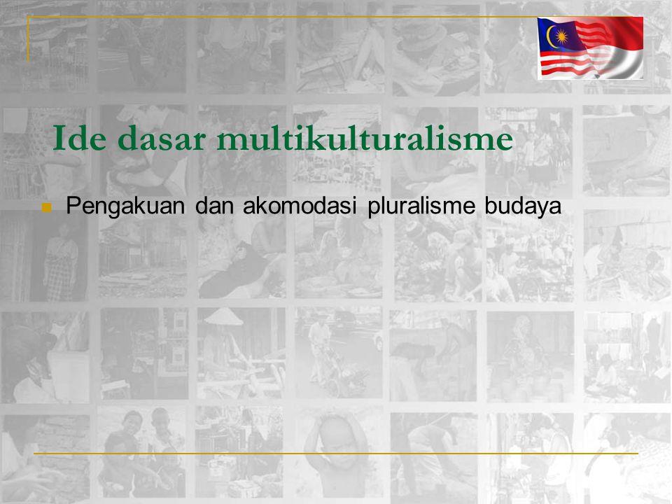 Ide dasar multikulturalisme Pengakuan dan akomodasi pluralisme budaya