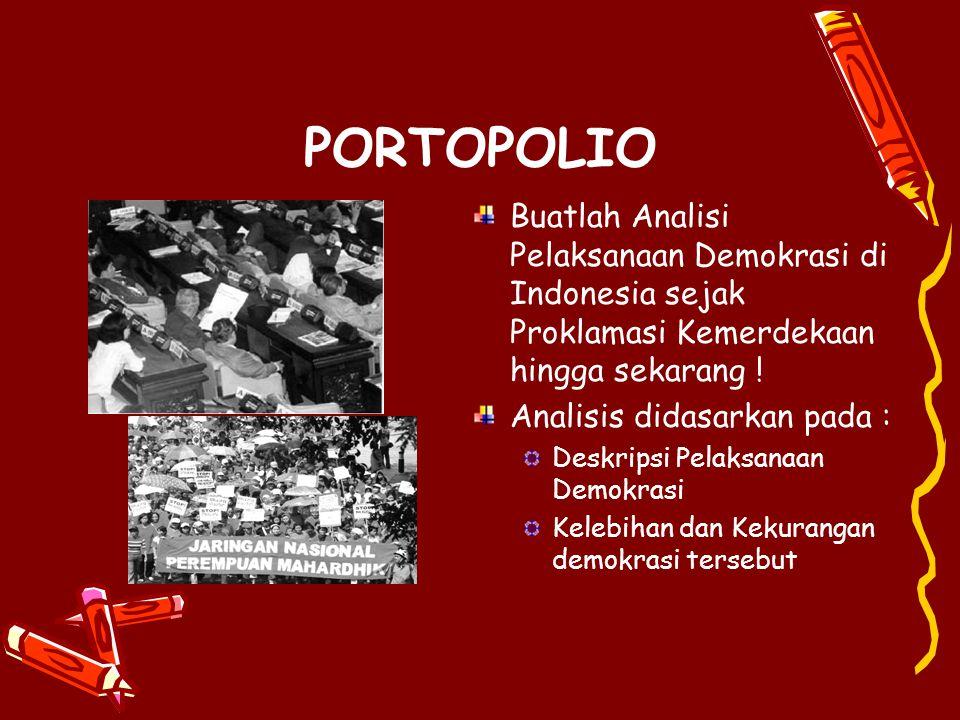 ASPEK DEMOKRASI PANCASILA Aspek formal mempersoalkan proses dan caranya rakyat menunjuk wakil-wakilnya dalam badan-badan perwakilan dan pemerintahan d
