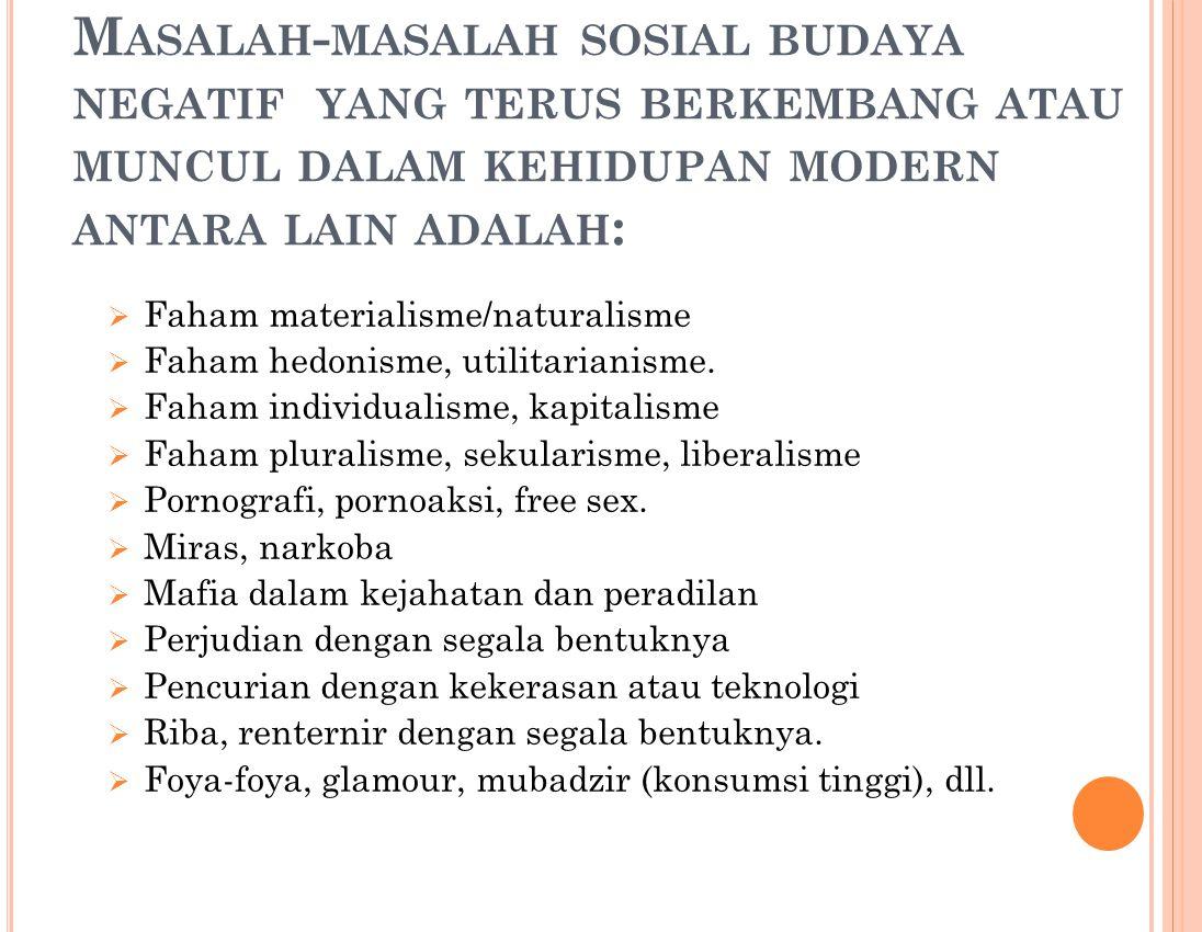 B AB 3 IMPLEMENTASI IMAN DAN TAQWA DALAM KEHIDUPAN MODERN A. Problematika, tantangan, dan resiko dalam kehidupan modern.  Problematika kehidupan mode