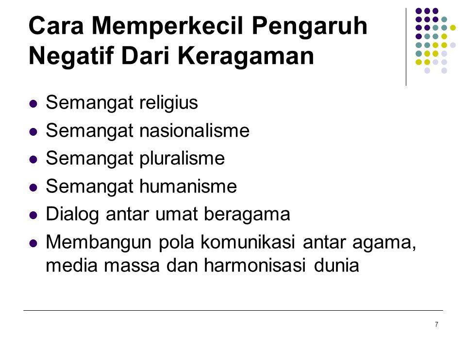 D.Problematika Diskriminasi Faktor penyebab diskriminasi 1.