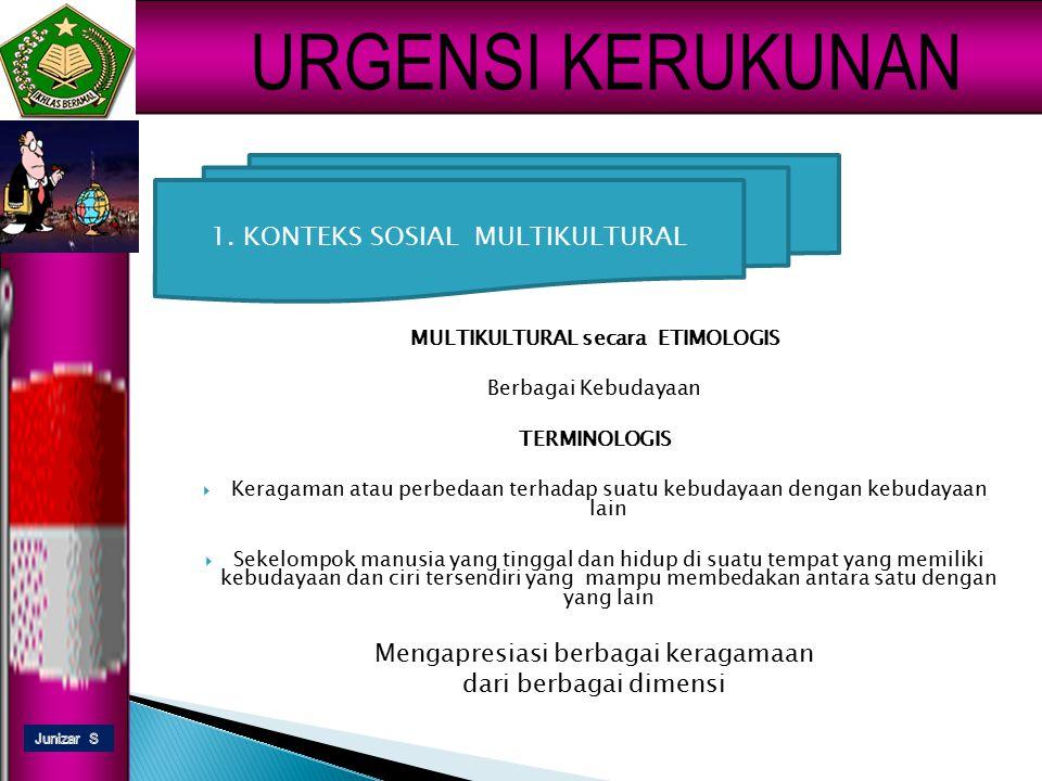 eldison URGENSI KERUKUNAN INDONESIA AGAMA BAHASA SUKU BUDAYA KEADAAN OBYEKTIF INDONESIA