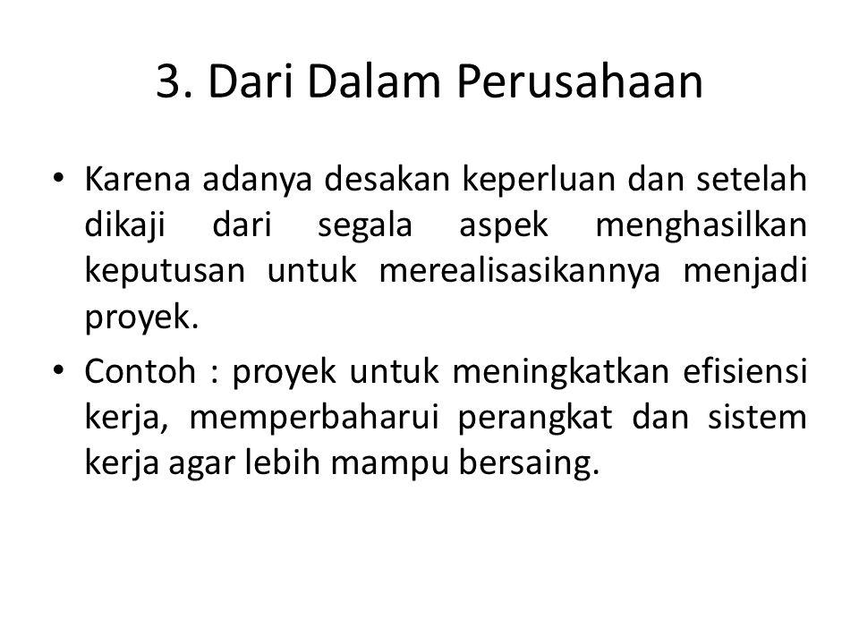 4.Dari kegiatan penelitian dan pengembangan.