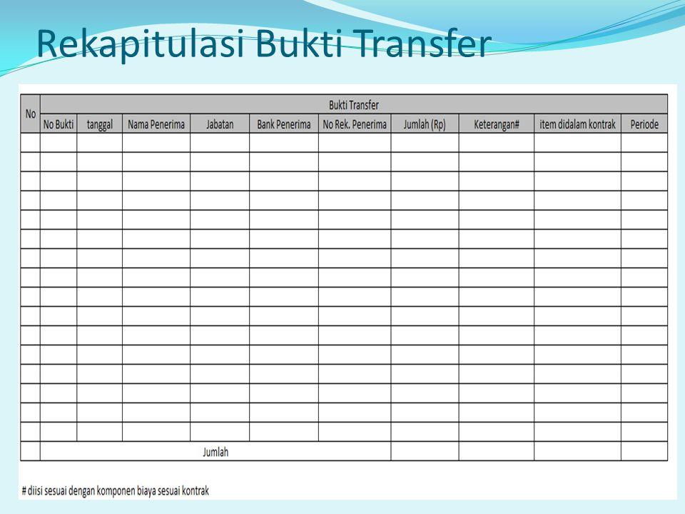 Rekapitulasi Bukti Transfer
