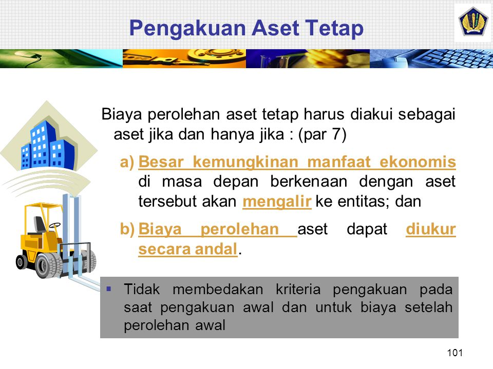 Pengertian Aset Tetap  Definisi  Aset tetap adalah aset berwujud yang: (par 6) 1.Dimiliki untuk digunakan dalam produksi atau penyediaan barang atau