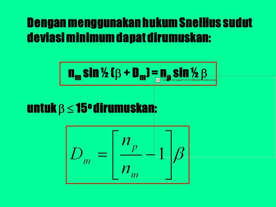Tentukan tebal lapisan minimum yang dibutuhkan agar terjadi interferensi maksimum pada sebuah lapisan tipis yang memiliki indeks bias 4/3 dengan menggunakan panjang gelombang 5.600 Å