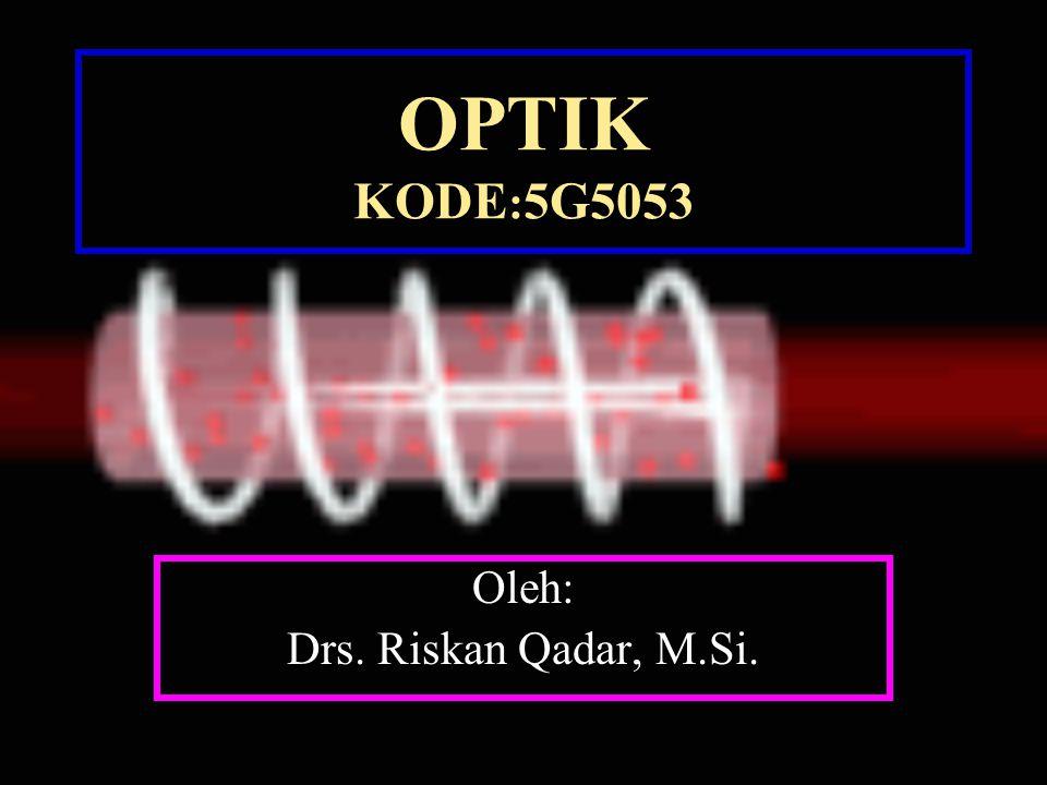 OPTIK KODE : 5G5053 Oleh: Drs. Riskan Qadar, M.Si.