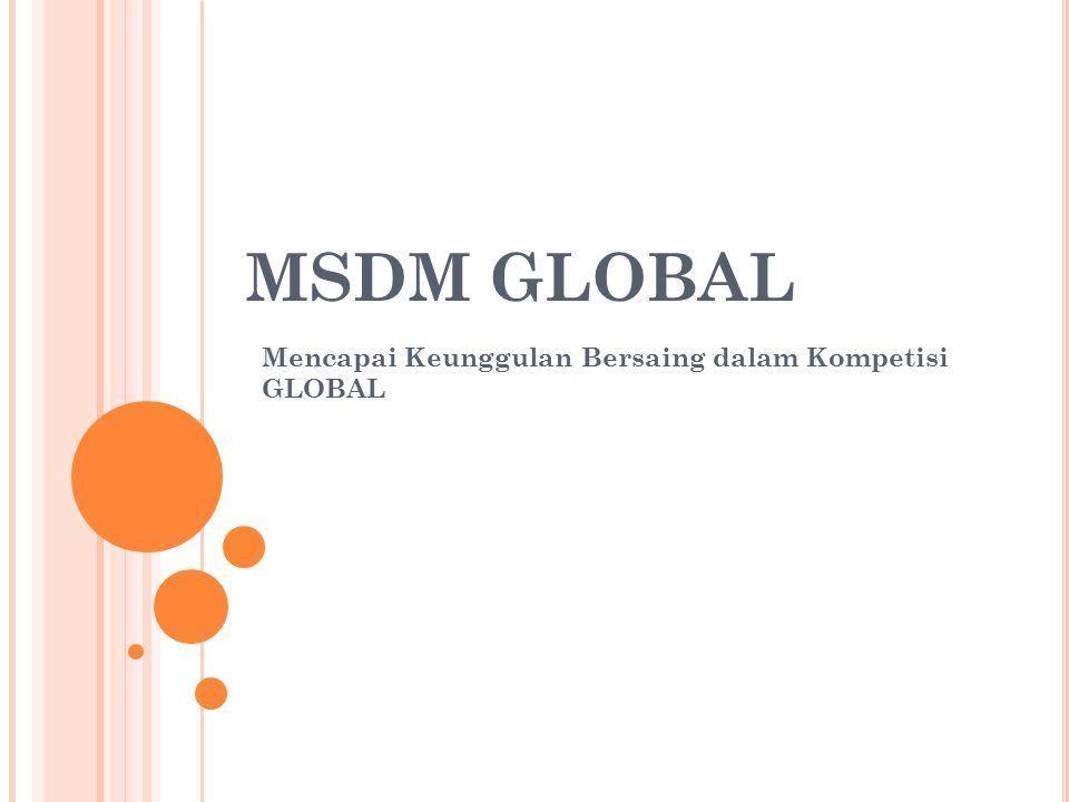 MSDM GLOBAL Mencapai Keunggulan Bersaing dalam Kompetisi GLOBAL