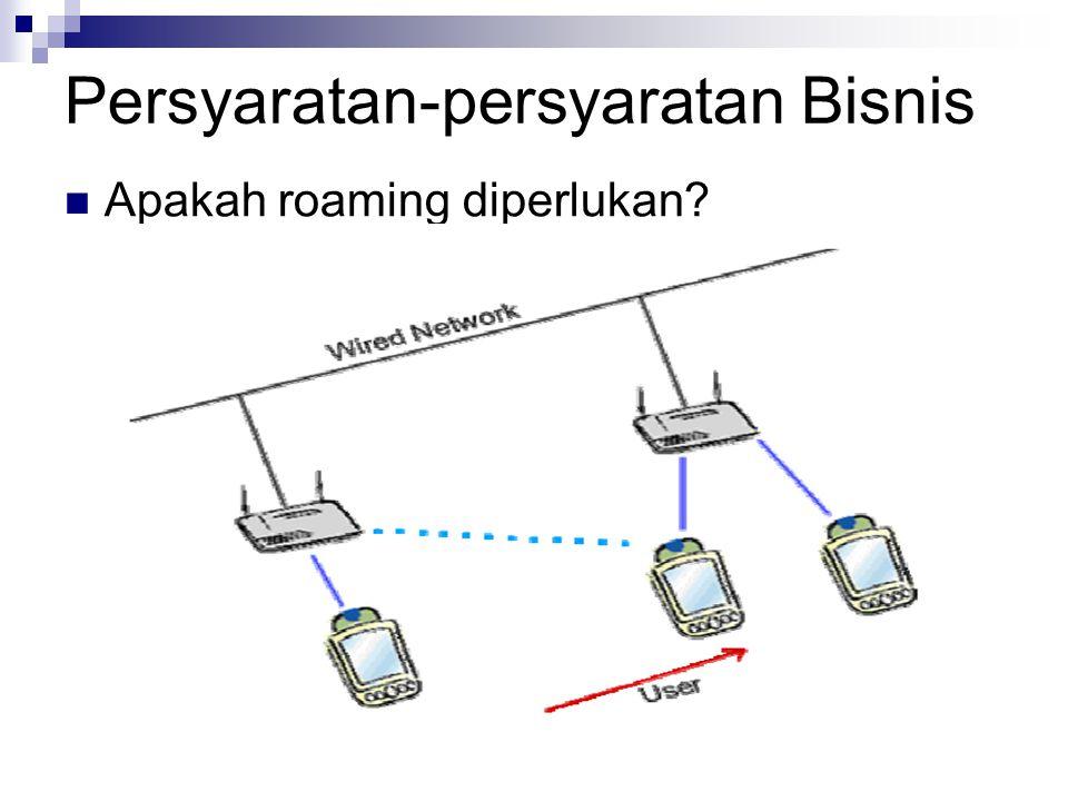 Persyaratan-persyaratan Bisnis Apakah roaming diperlukan?