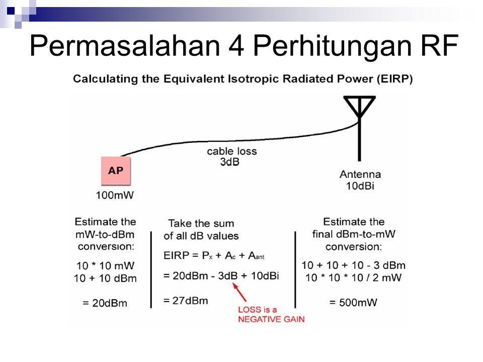 Permasalahan 4 Perhitungan RF