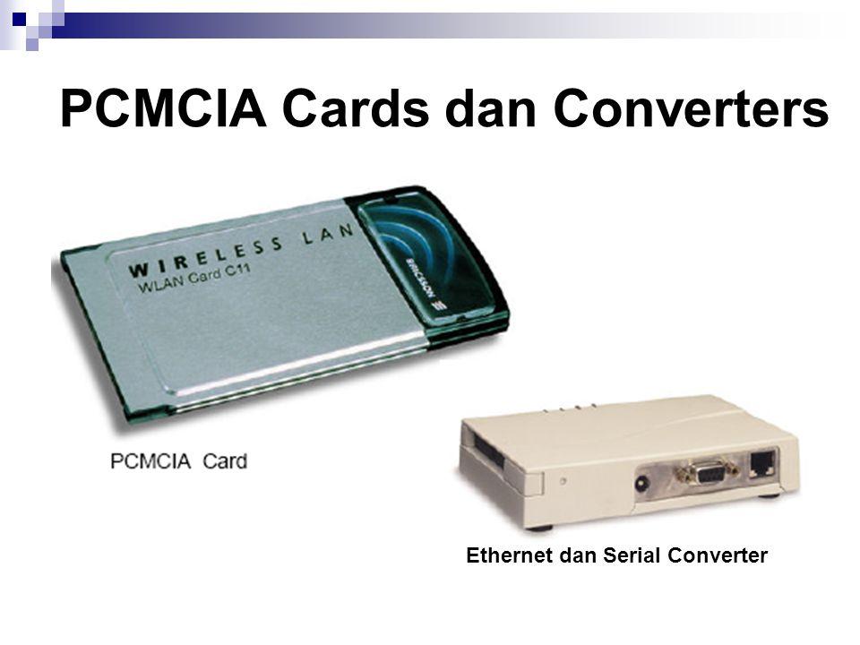 PCMCIA Cards dan Converters Ethernet dan Serial Converter