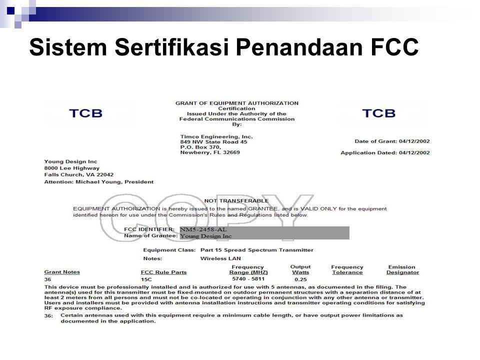 Sistem Sertifikasi Penandaan FCC