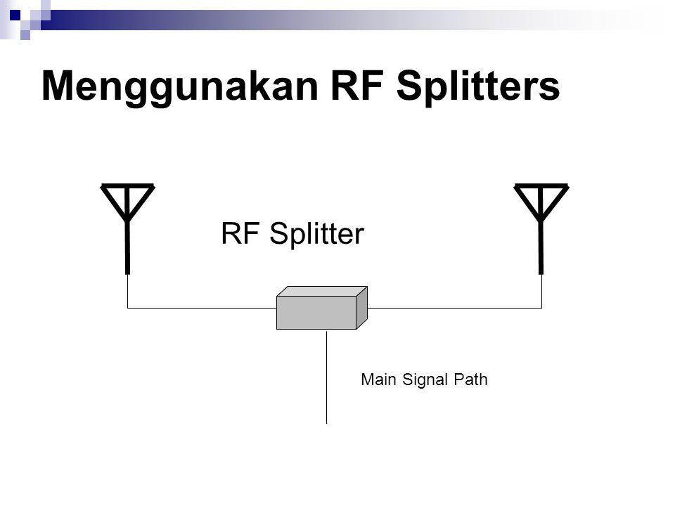 Menggunakan RF Splitters RF Splitter Main Signal Path