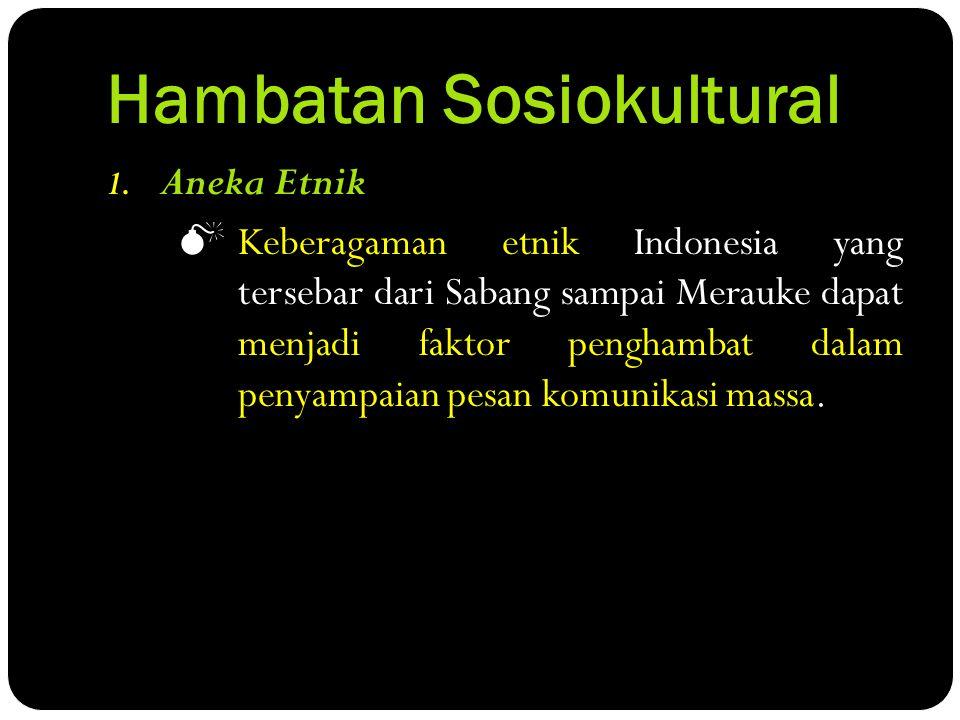 Hambatan Sosiokultural 1.