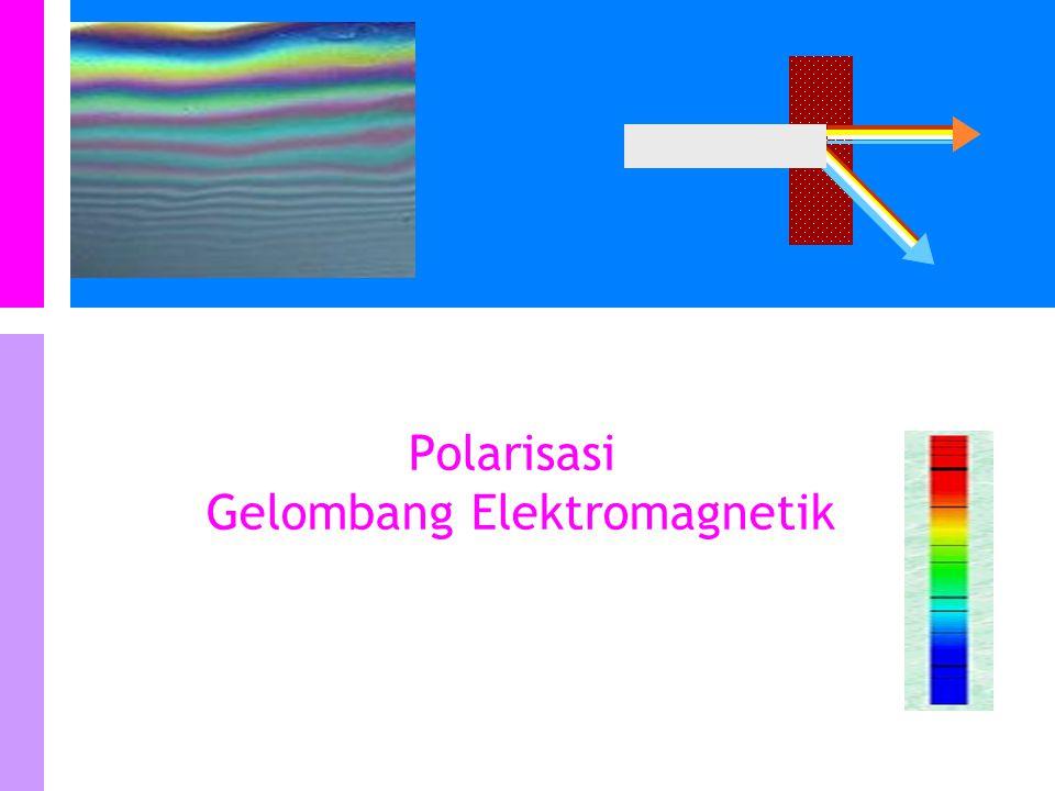 Polarisasi gelombang secara parsial Gangguan dalam suatu arah paling besar tetapi pada arah yang lain (yang tegak lurus) paling kecil.