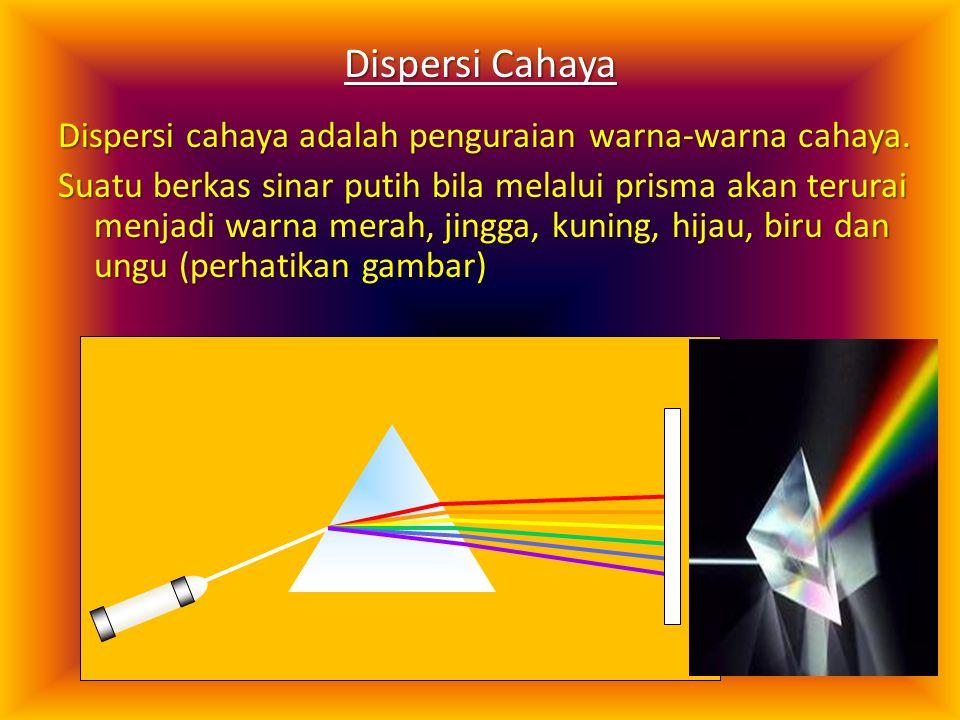 C.Pembiasan cahaya pada prisma prisma  sudut deviasi :  = i 1 + r 2 -   = r 1 + i 2  Deviasi minimum : i 1 = r 2 dan r 1 = i 2  sangat kecil ( 
