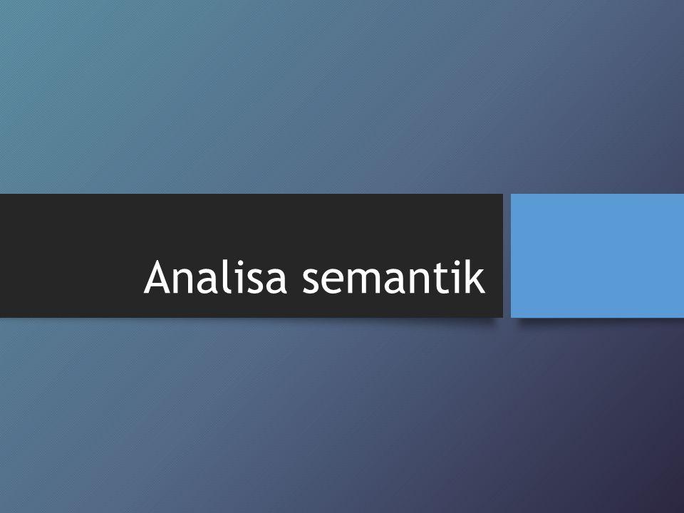 Analisa semantik