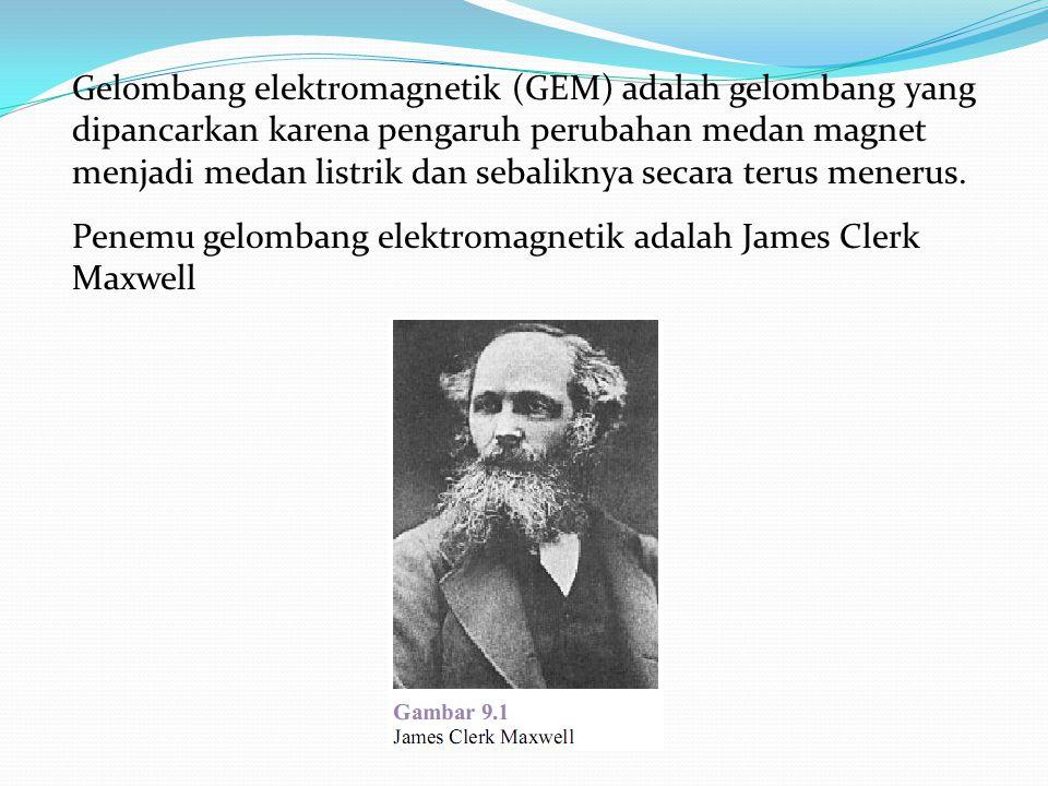Gelombang elektromagnetik (GEM) adalah gelombang yang dipancarkan karena pengaruh perubahan medan magnet menjadi medan listrik dan sebaliknya secara t