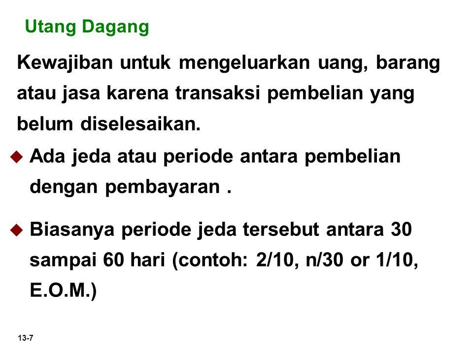 13-8 Janji tertulis untuk membayar sejumlah uang pada waktu tertentu.