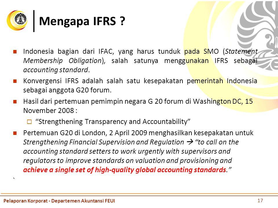 Mengapa IFRS .