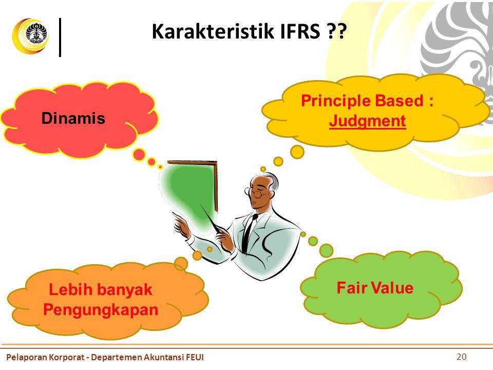 Karakteristik IFRS ?.