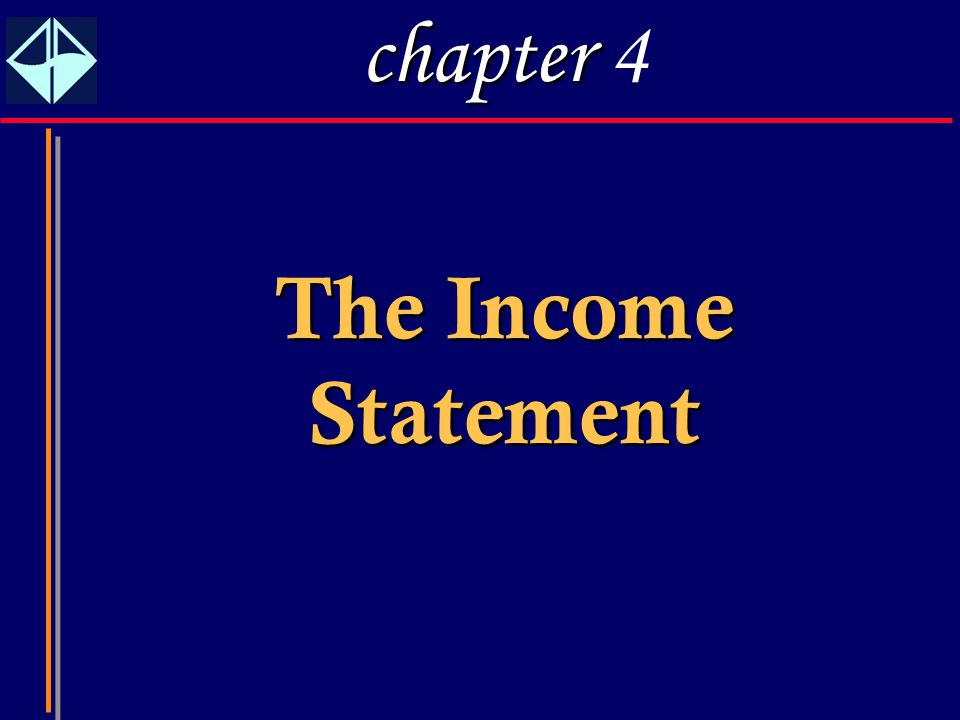 1 The Income Statement chapter chapter 4