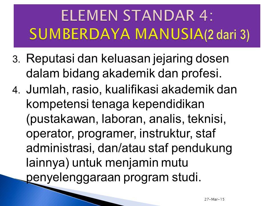1. Kualifikasi akademik, kompetensi (pedagogik, kepribadian, sosial, dan profesional), dan jumlah (rasio dosen mahasiswa, jabatan akademik) dosen teta