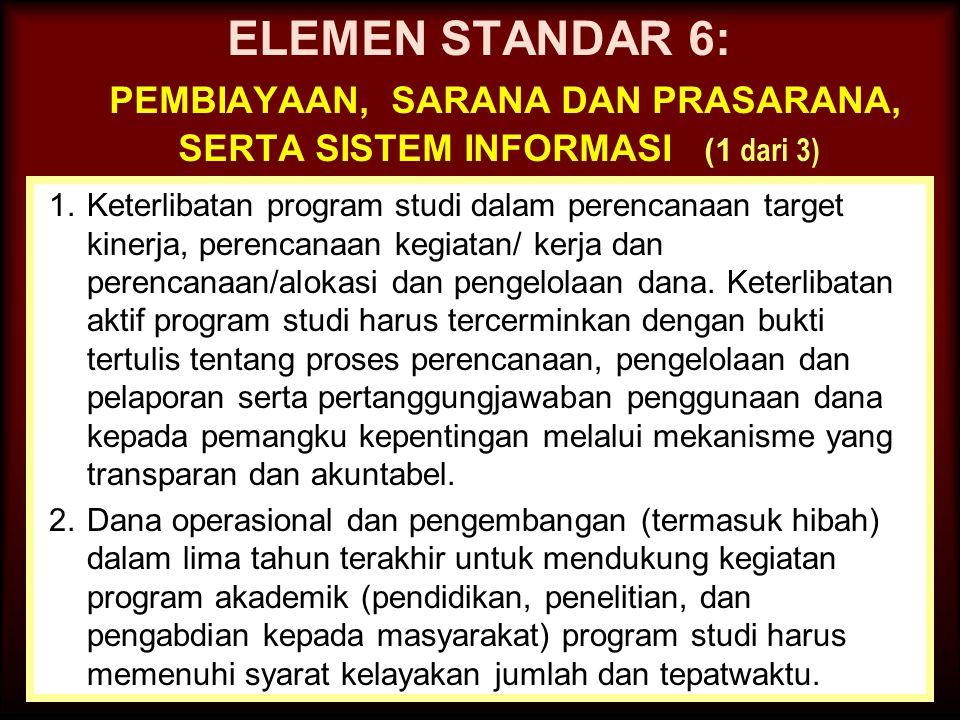 27-Mar-15 ELEMEN STANDAR 5 : KURIKULUM, PEMBELAJARAN, DAN SUASANA AKADEMIK (5 dari 5) 10.Upaya perbaikan sistem pembelajaran yang telah dilakukan sela