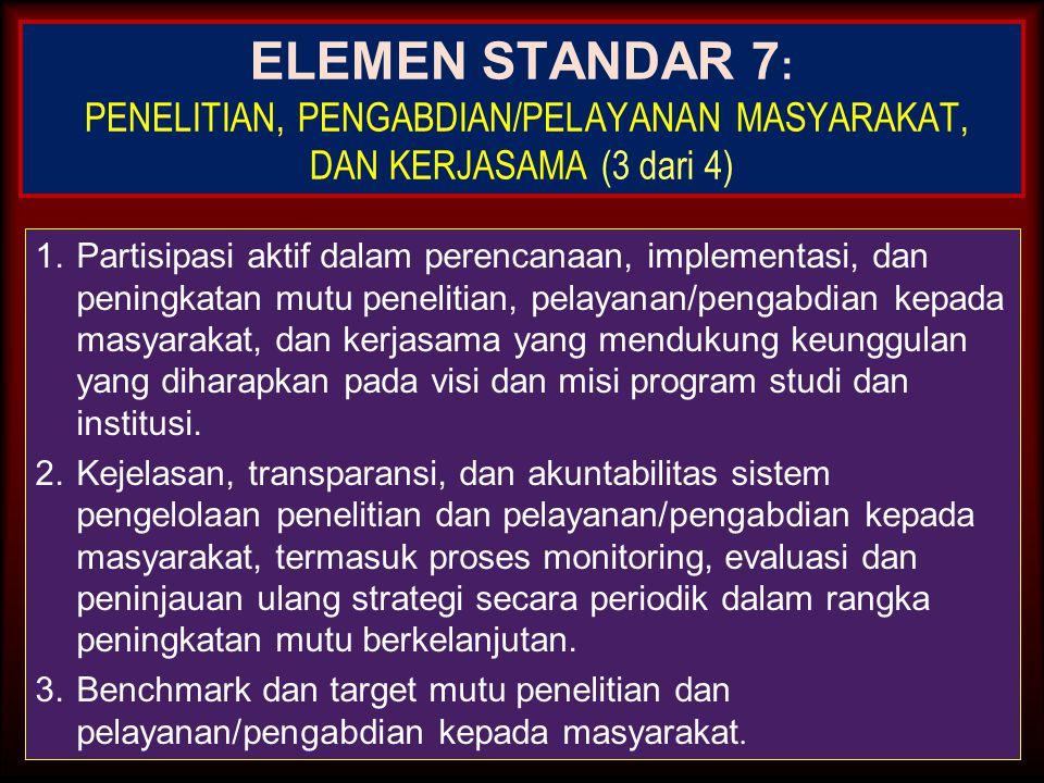 27-Mar-15 ELEMEN STANDAR 6: PEMBIAYAAN, SARANA DAN PRASARANA, SERTA SISTEM INFORMASI (2 dari 3) 3.Ruang kerja dosen yang memenuhi kelayakan dan mutu u