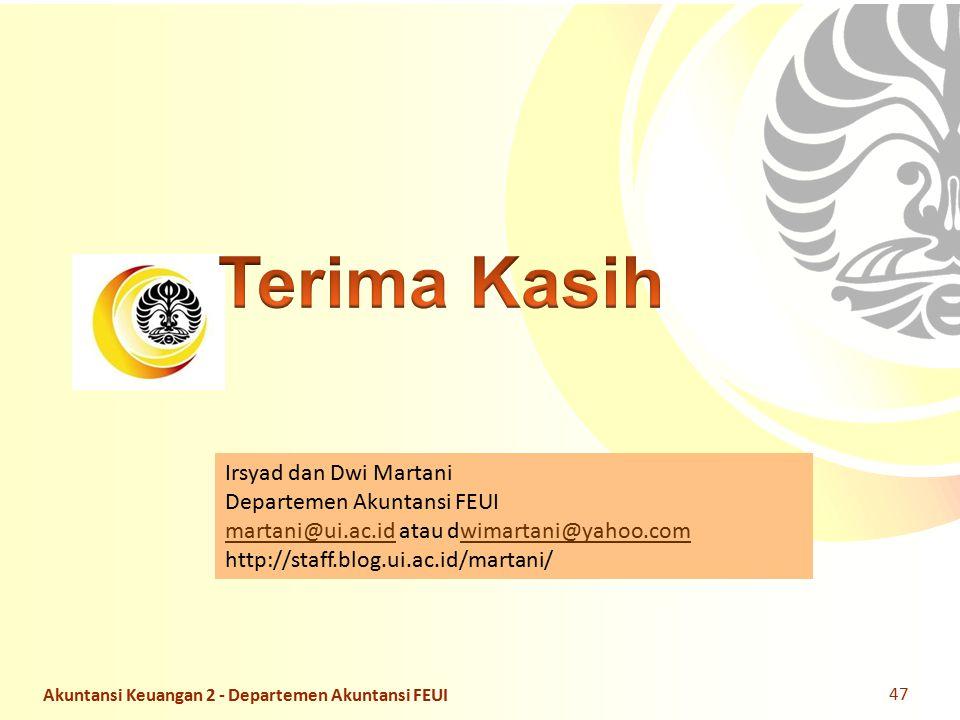 Slide OCW Universitas Indonesia Oleh : Dwi Martani Departemen Akuntansi FEUI Irsyad dan Dwi Martani Departemen Akuntansi FEUI martani@ui.ac.idmartani@