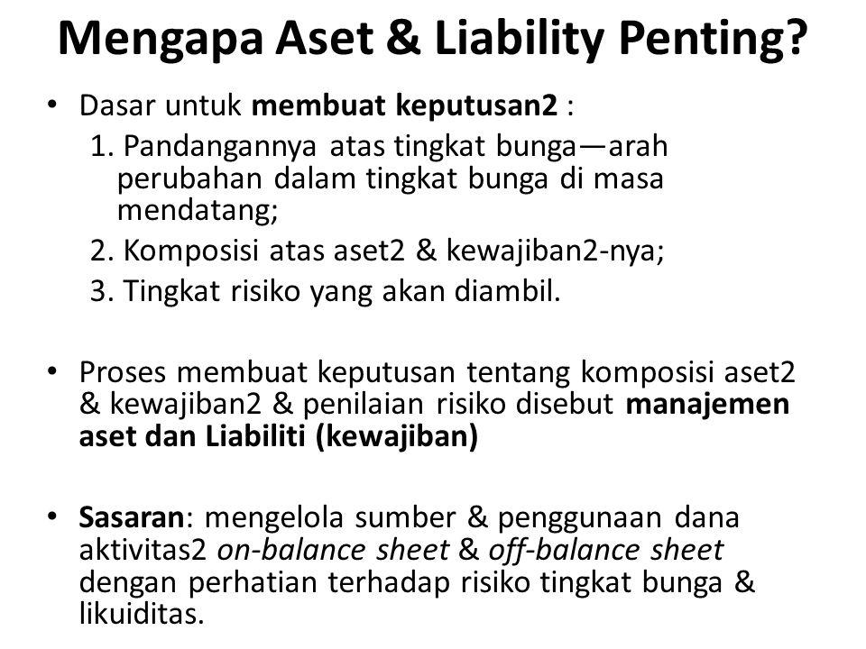 Tujuan Asset & Liabilities Management Tujuan ALMA: mengontrol ukuran pendapatan bunga bersih.