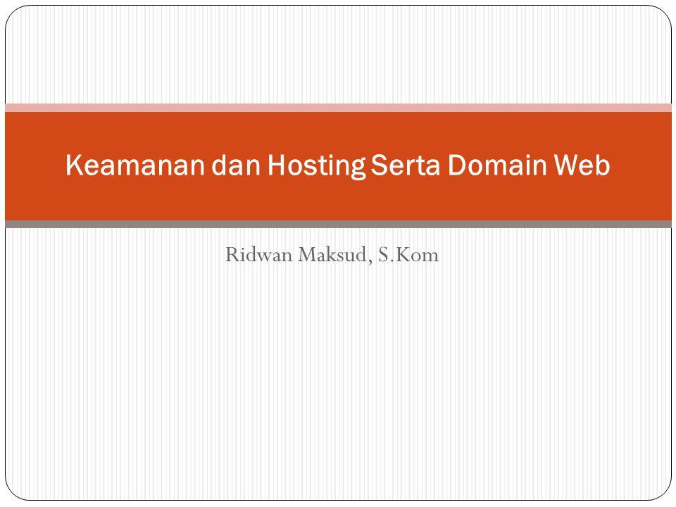 Domain Akhiran yang digunakan pada sebuah alamat internet/domain sangat beragam.