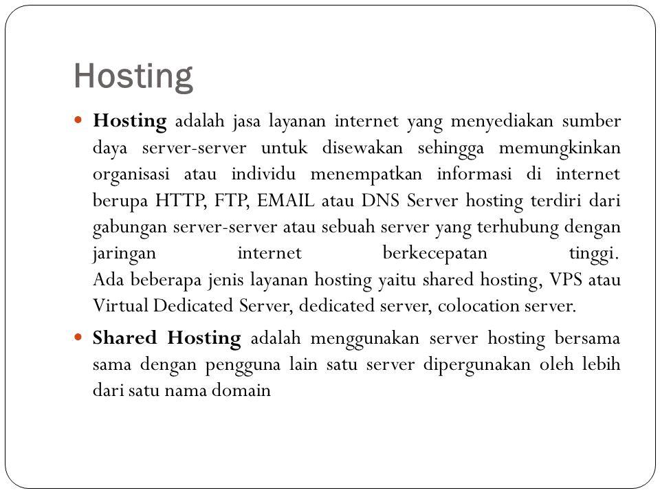 VPS, Virtual Private Server, atau juga dikenal sebagai Virtual Dedicated Server merupakan proses virtualisasi dari lingkungan software sistem operasi yang dipergunakan oleh server.